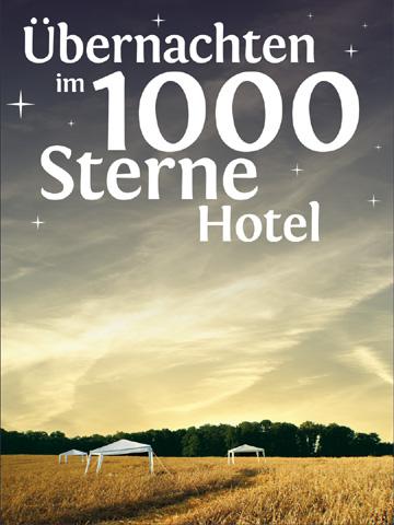 &Übernachten im 1000 Sterne Hotel - Open Air Hotel - Übernachten im Kornfeld
